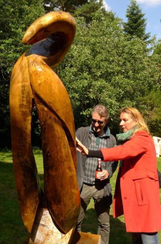 Ausstellung Katharinenhof 2016. Holz 2010 Gemeinschaftsarbeit Thomas Czellnik,Bernd Siering 2