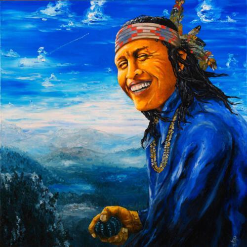 Don Juan, 1993, Öl, 90x90