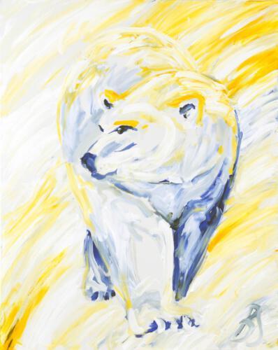 Eisbär, 2012 Acryl, 100x80cm