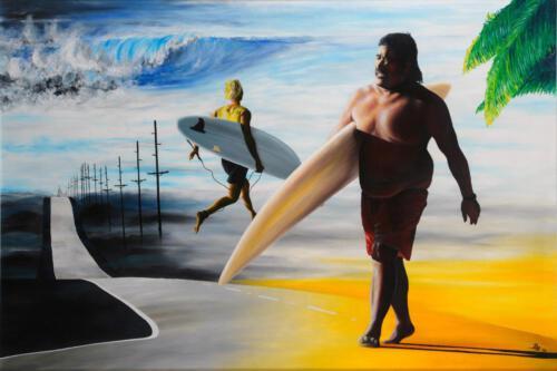Jaws, 1994, Öl, 80x120cm
