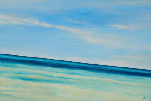 Mann mit Meer, 2011, Öl und Acryl, 120x80cm