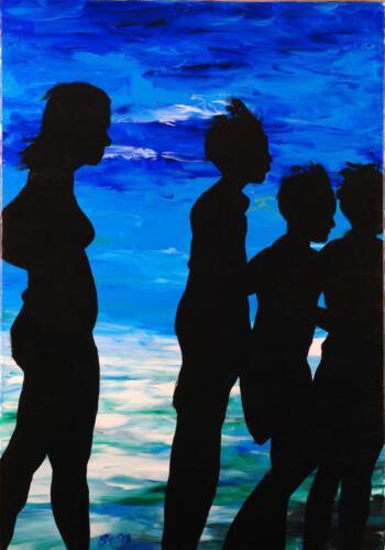 Ohne Titel 05, 2010, Öl und Acryl, 100x70cm