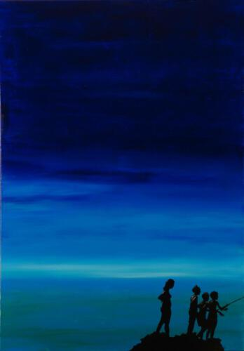 Ohne Titel 06, 2010, Öl und Acryl, 100x70cm