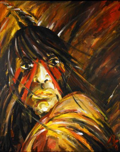 Ohne Titel 12, 2011 Acryl, 100x80cm