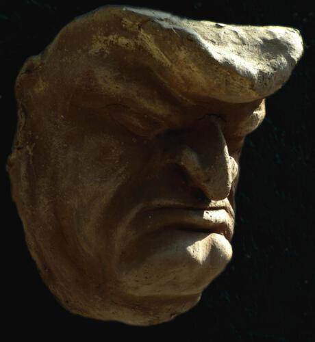 P.008 Maske 04, Ton, 1980, ca 30cm hoch