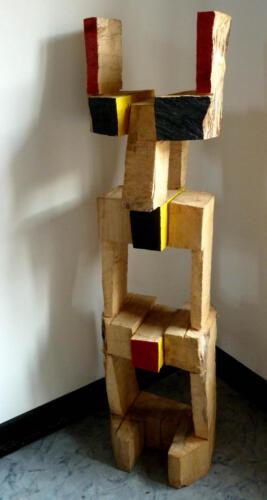 P.019, Holz, 2011, 170cm hoch, Gemeinschaftsarbeit mit Thomas Czellnik