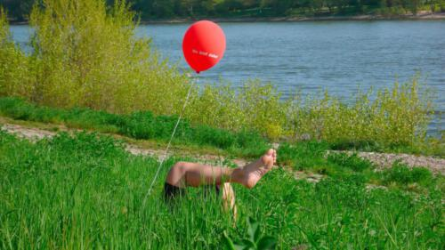 Freizeit, Luftballon, Rot, Wiese
