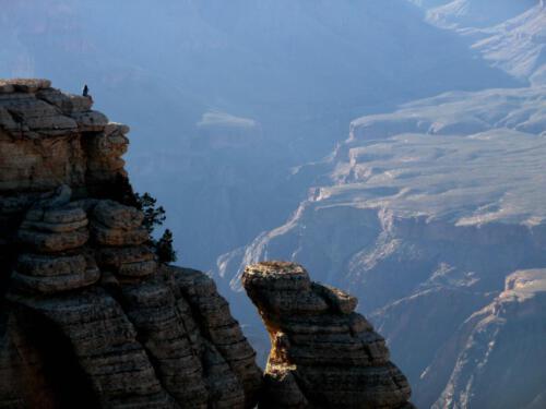 Touristen betrachten den Grand Canyon
