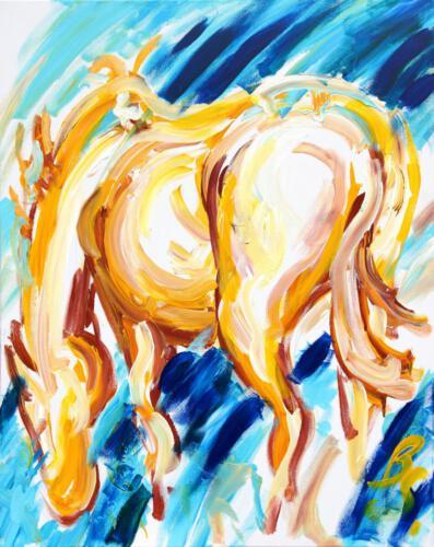 Pferd 1, Acryl 2012, 100 x 80