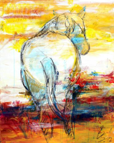 Pferd 2, Acryl 2012, 100 x 80