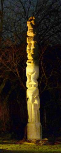 Totem, 2009, ca.4m hoch, Gemeinschaftsarbeit mit Th.Czellnik