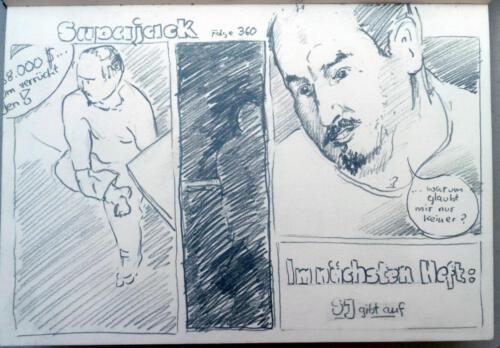 Z.Superjack 3, 2011  aus Skizzenbuch