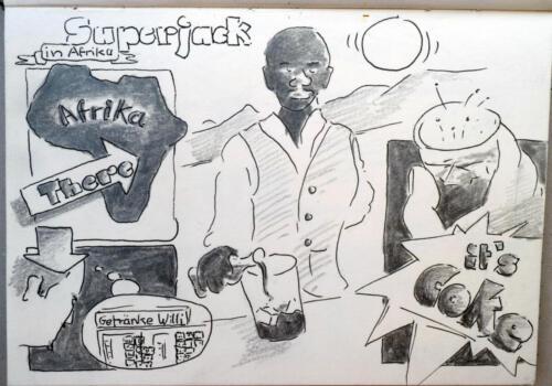 Z.Superjack 5, 2011  aus Skizzenbuch